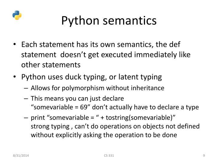 Python semantics