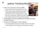 python timeline history