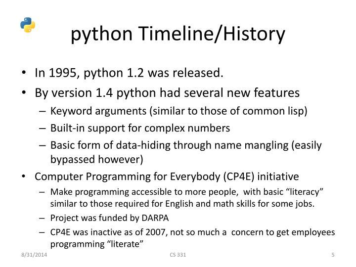 python Timeline/History
