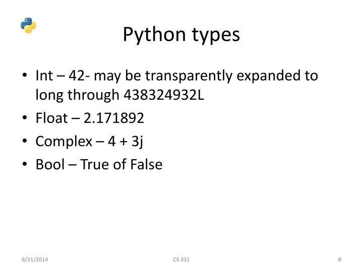 Python types