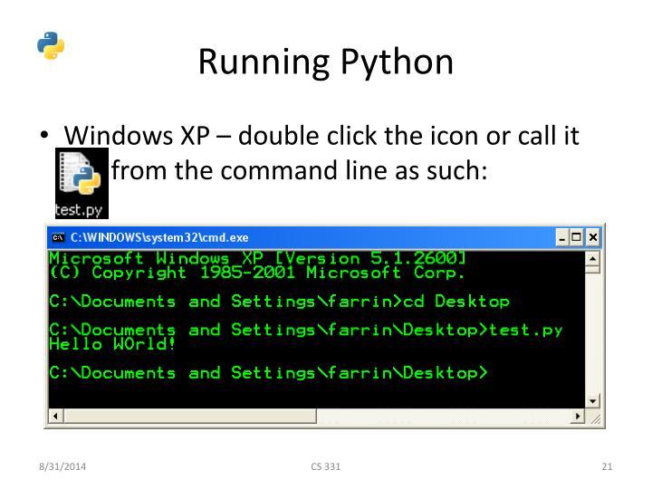 Running Python