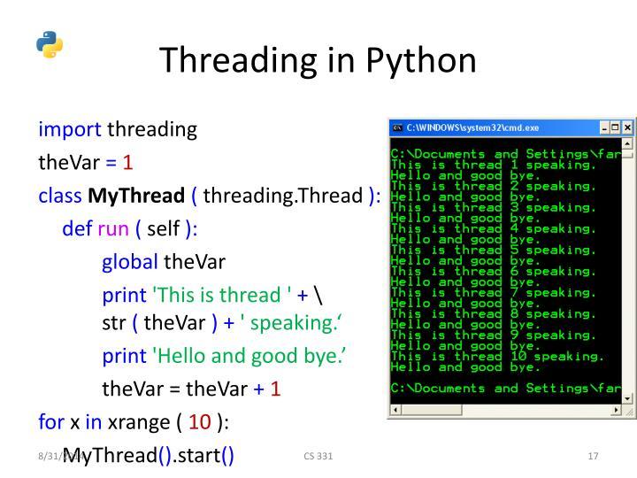 Threading in Python