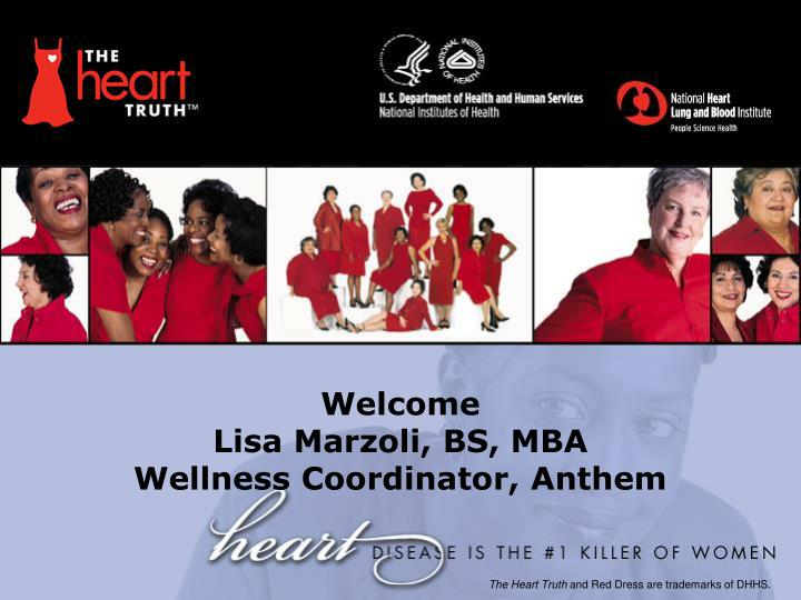 Welcome lisa marzoli bs mba wellness coordinator anthem