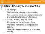 cnss security model cont d
