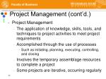project management cont d2