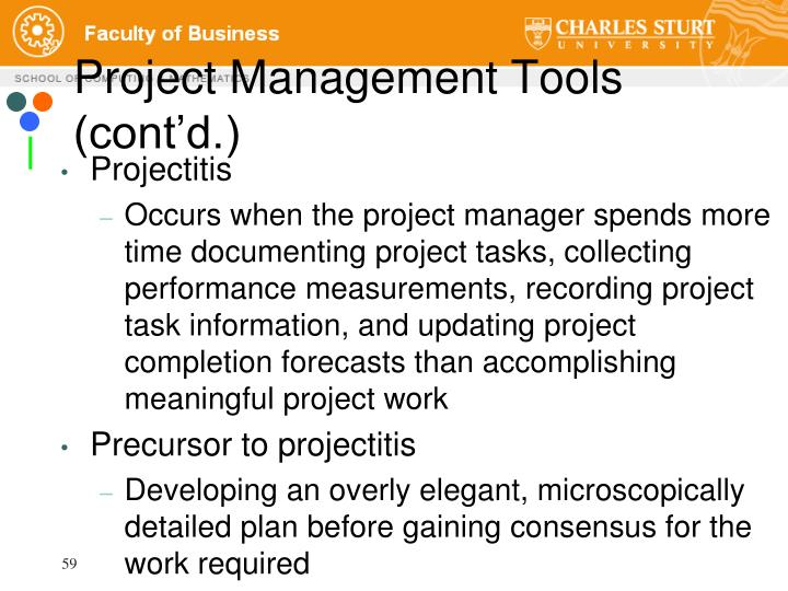 Project Management Tools (cont'd.)