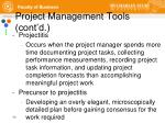 project management tools cont d
