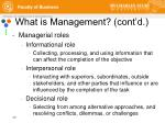what is management cont d