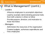 what is management cont d1