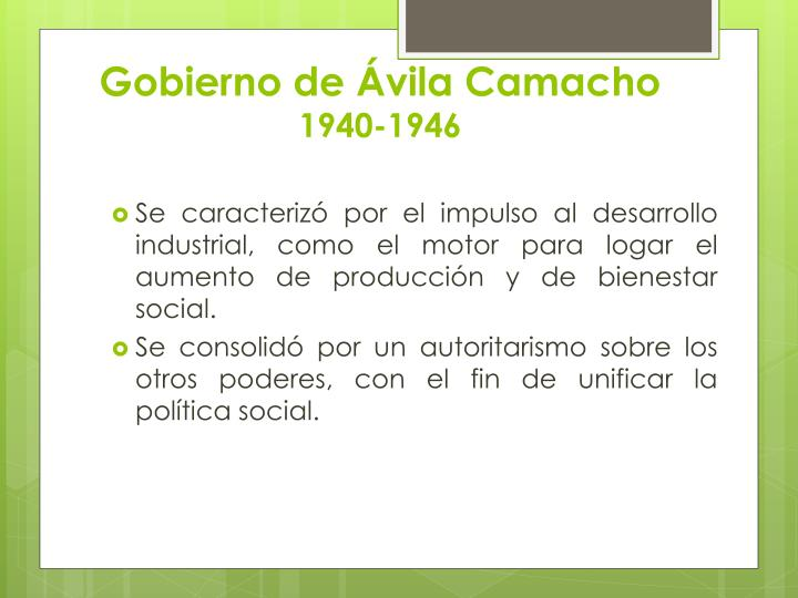 Gobierno de Ávila Camacho