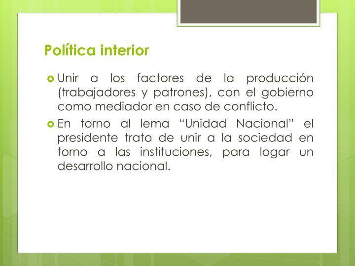 Política interior