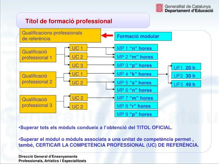 Títol de formació professional