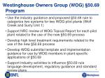 westinghouse owners group wog 50 69 program