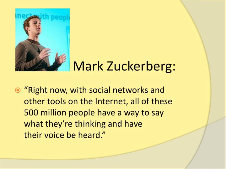 Mark Zuckerberg:
