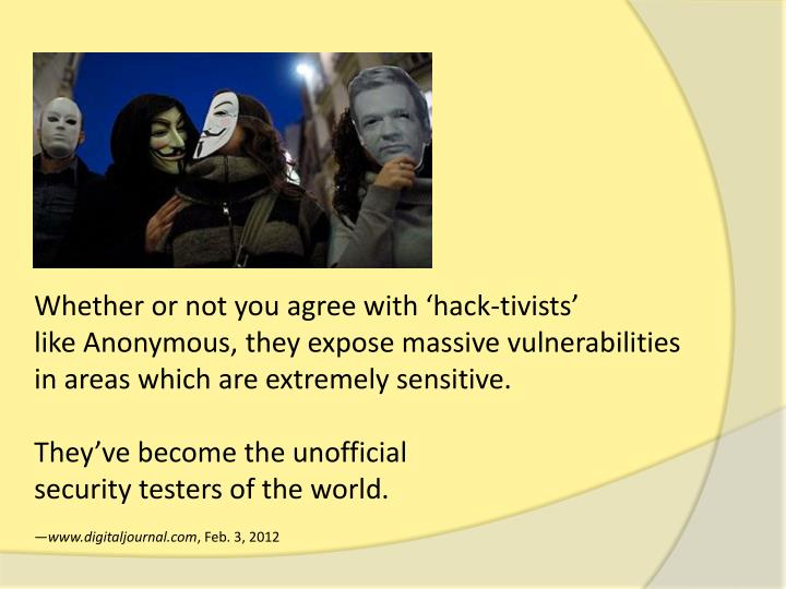 Whether or not you agree with 'hack-
