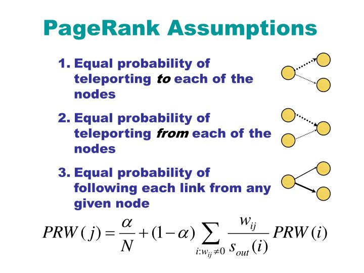 PageRank Assumptions