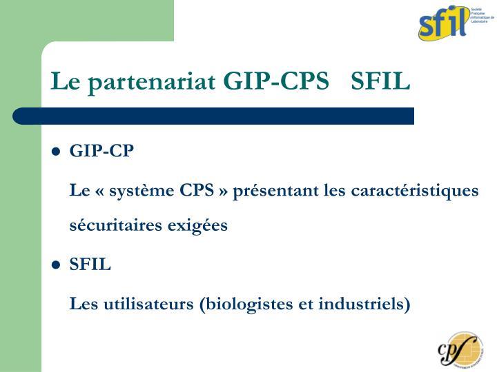 Le partenariat GIP-CPS   SFIL