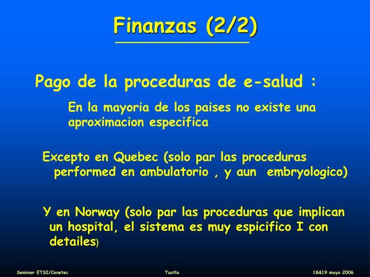 Finanzas (2/2)