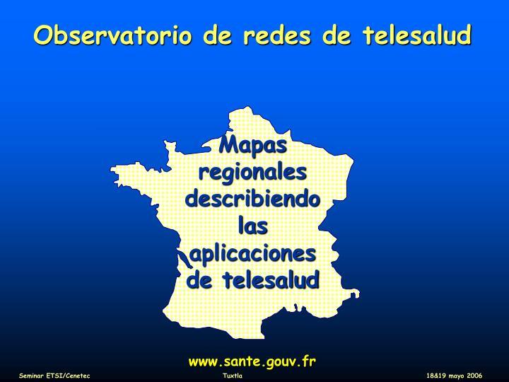 Observatorio de redes de telesalud