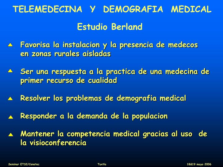 TELEMEDECINA  Y  DEMOGRAFIA  MEDICAL