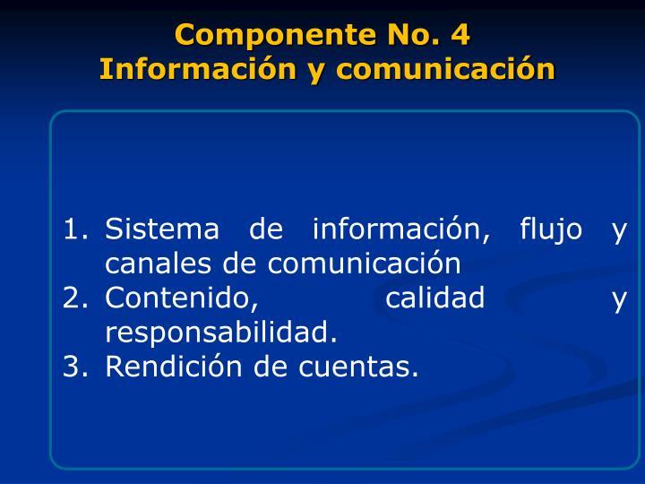Componente No. 4