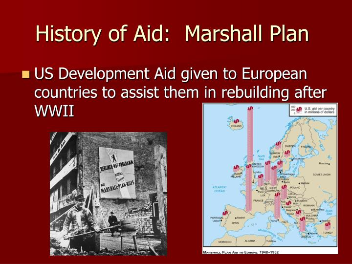 History of aid marshall plan