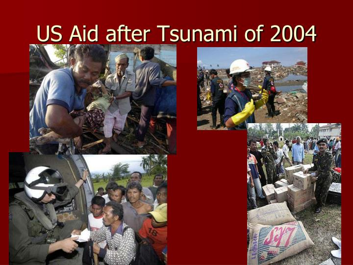 US Aid after Tsunami of 2004