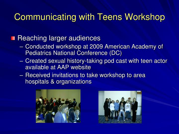 Communicating with Teens Workshop