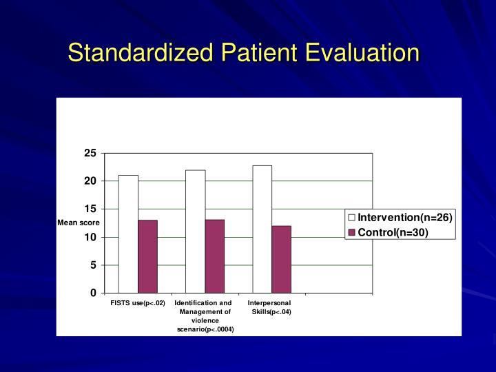 Standardized Patient Evaluation