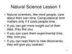 natural science lesson 1