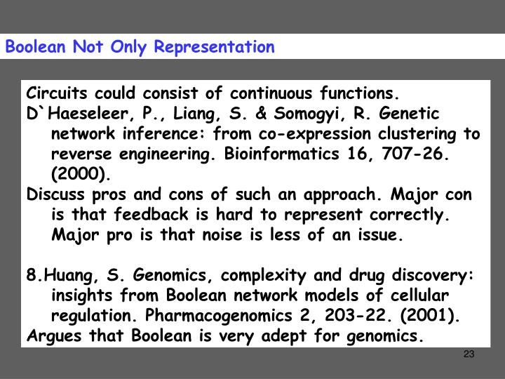 Boolean Not Only Representation