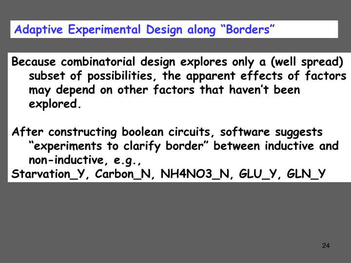"Adaptive Experimental Design along ""Borders"""