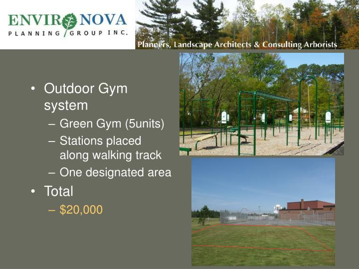 Outdoor Gym system