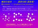 movement gradient concentration