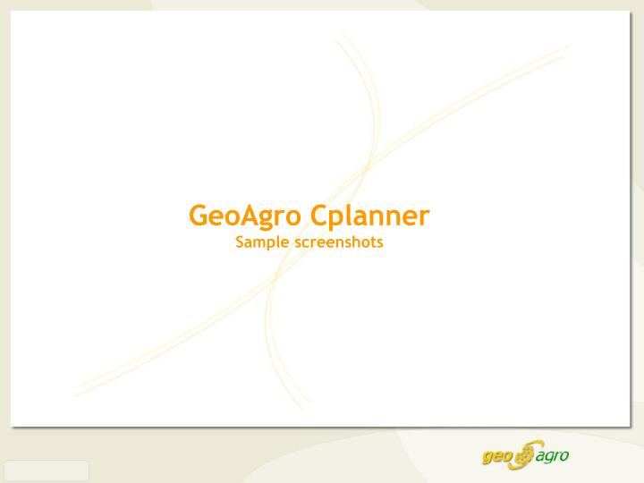 GeoAgro Cplanner