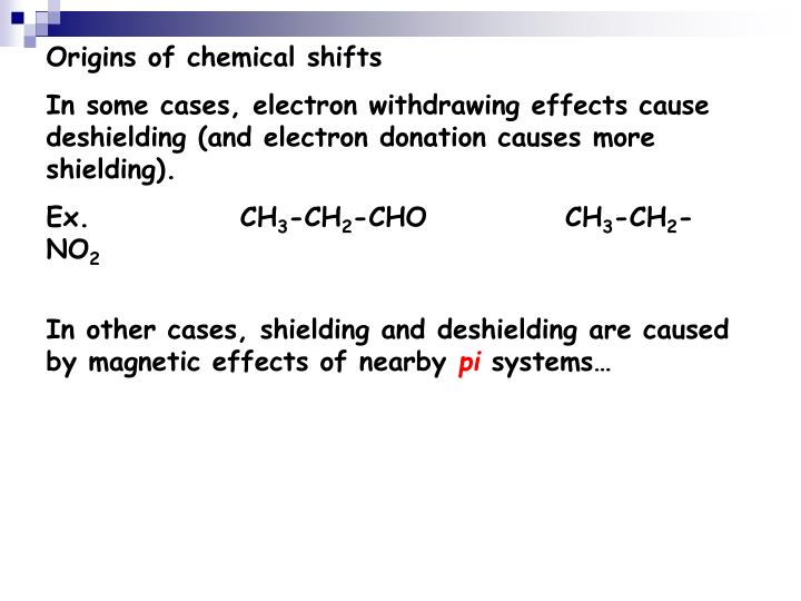 Origins of chemical shifts
