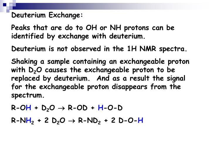 Deuterium Exchange: