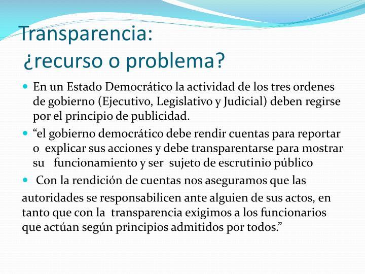 Transparencia: