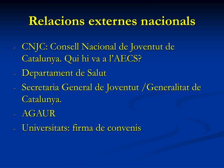 Relacions externes nacionals