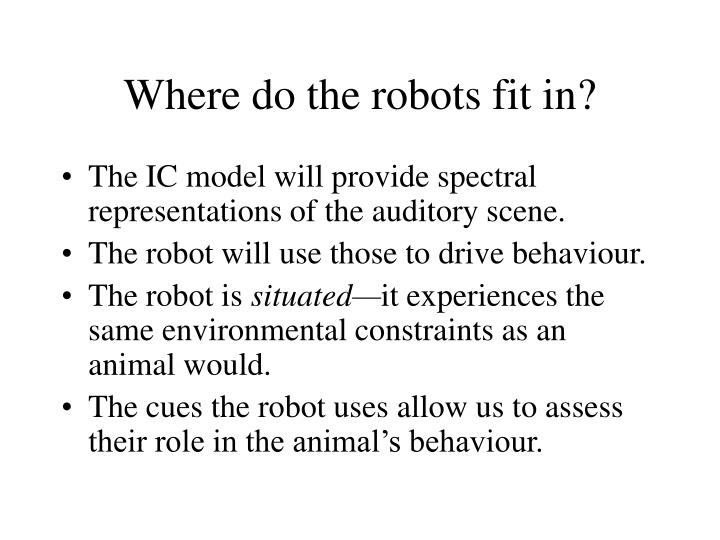 Where do the robots fit in?