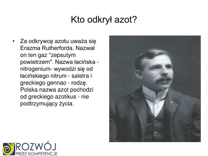 Kto odkrył azot?