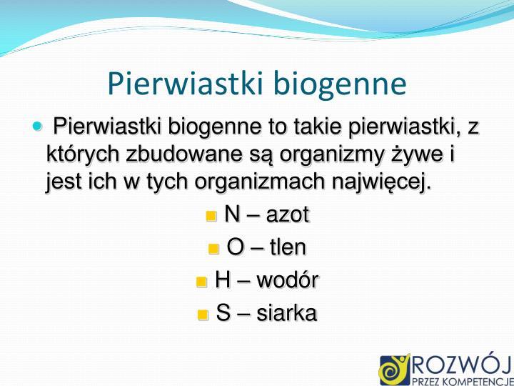 Pierwiastki biogenne