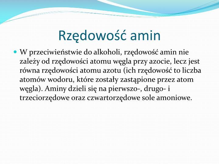 Rzędowość amin