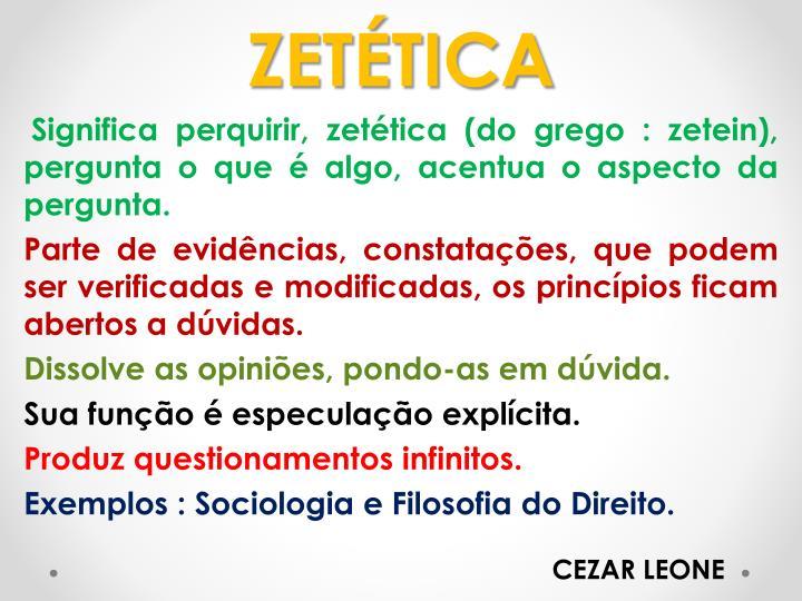 ZETÉTICA