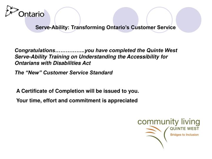 Serve-Ability: Transforming Ontario's Customer Service