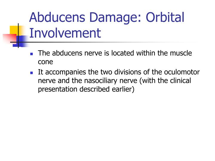Abducens Damage: Orbital Involvement