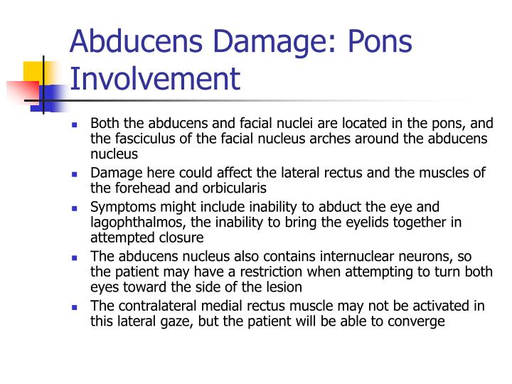 Abducens Damage: Pons Involvement