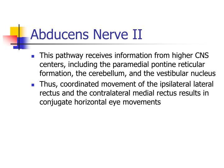 Abducens Nerve II