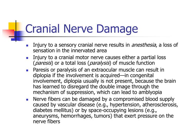 Cranial Nerve Damage