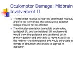 oculomotor damage midbrain involvement ii
